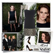 """""""Kristen Stewart Honors Makeup Artist Jillian Dempsey at Marie Claire Image Maker Awards by sasoza"""" by sasooza ❤ liked on Polyvore featuring Polaroid, Sally Lapointe, Christian Louboutin, Chanel and kristenstewart"""
