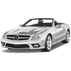 Slideshow - 2009 Mercedes-Benz SL-Class SL550 Roadster - Yahoo! Autos ($304,350) ❤ liked on Polyvore featuring cars