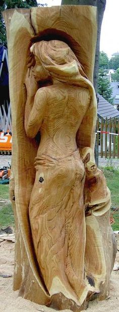 angel chainsaw carvings | chainsaw carving mix photo fairy show more classic chainsaw carving ...