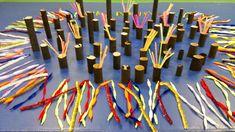 Limpiapipas y tubos de cartón con agujeros