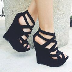 2a2519f01b85 26 Best BLACK WEDGES images