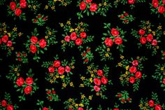 reminds me of my Ukrainian dance costumes ~ From Poland Textures Patterns, Fabric Patterns, Flower Patterns, Flower Designs, Print Patterns, Parisienne Chic, Rose Background, Dark Backgrounds, Retro Vintage
