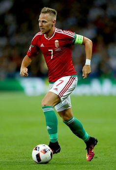 Balazs Dzsudzsak of Hungary in action prior to the UEFA EURO 2016 round of 16 match bewtween Hungary and Belgium at Stadium Municipal on June 26, 2016 in Toulouse, France.
