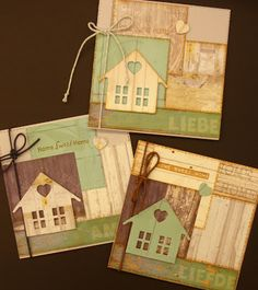 Marianne Design Country Home New Home Cards, House Of Cards, Cricut Cards, Stampin Up Cards, Wedding Shower Cards, Marianne Design Cards, Paint Colors For Living Room, Some Cards, Adult Crafts