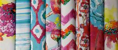 """Please vote for my fabric """"Breezy Blooms"""" in the Spoonflower watercolor fabric contest! :)"""
