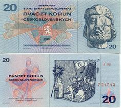 Banknotes collection : Some banknotes for starter collection - CARI Date, Retro 2, Commemorative Coins, Socialism, Coin Collecting, Paper Design, Childhood Memories, Bratislava, Diy And Crafts