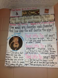 Close Reading -  The True Story of the Three Little Pigs  We did this last week with different versions of the story.