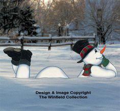 Lazy Yard Snowman Woodcraft Pattern