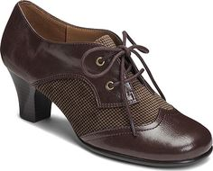 1930s oxford shoes. Womens Aerosoles Aristocrat - Brown FabricFaux Leather Casual Shoes $68.95 AT vintagedancer.com