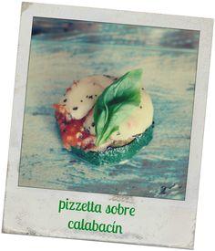 Mini pizza on zucchini