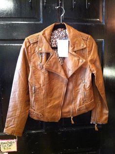 I love these jackets so hard. Paparazzi by BIZ Faux Leather Jacket in Machiatto