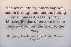 The key opening the door.
