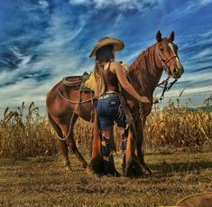 It's a beautiful world . Cowgirl And Horse, Sexy Cowgirl, Cowboy And Cowgirl, Cowgirl Style, Hot Girls, Hot Country Girls, Country Women, Cowgirl Outfits, Moda Cowgirl