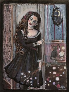 Lady Viktoria; acrylic and ink