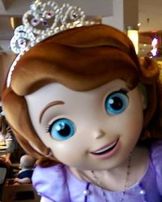 """Sofia the First at """"Play and Dine at Hollywood and Vine"""", a character meal in Disney's Hollywood Studios at Disney World."""