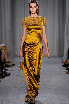 Marchesa Fall 2014. This dress looks like liquid gold!