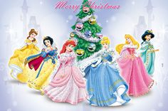 Merry Christmas from the Disney princess by Ruth velasquez, via Flickr