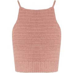She Made Me Jannah crochet cropped cami top (€100) ❤ liked on Polyvore featuring tops, crop top, light pink, pink tops, boho crop top, beach shirts, cotton camisole tops and red crop top