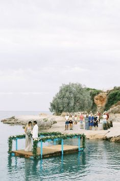 Breathtaking Greek Micro Wedding – Kefalonia Island – Vesi and Yiannis Simopoulos 47 You don't want to miss this unique and intimate wedding ceremony on a floating platform! #bridalmusings #bmloves #destinationweddings #weddingceremony #uniqueweddingideas Romantic Films, Most Romantic, Floating Platform, Intimate Wedding Ceremony, Flower Studio, Sunny Beach, Bridal Musings, Beautiful Stories, Couple Posing