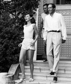 Rare Audrey Hepburn — Audrey Hepburn and Mel Ferrer photographed by...