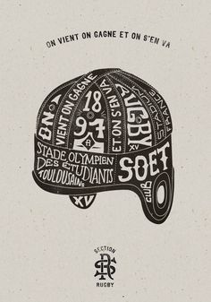 Good typography — Toulouse SOET Section Rugby Typography Tumblr, Typography Love, Creative Typography, Vintage Typography, Typography Letters, Typography Images, Typography Served, Toulouse, Rugby Feminin