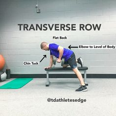Here are some important details on the Dumbbell Transverse Row. Muscle Man, Athlete, Shoulder, Healthy, Health