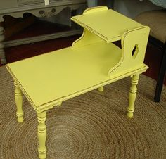 Antique Reclaimed Vintage Distressed Yellow Paint by CURIOSITYNC, $99.00