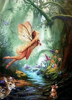 "≍ Nature's Fairy Nymphs ≍ magical elves, sprites, pixies and winged woodland faeries - ""Fairy of the Forest"" by kismet-angel. //So pretty EL// Woodland Creatures, Magical Creatures, Fantasy Creatures, Woodland Animals, Forest Fairy, Fairy Land, Woodland Fairy, Magic Forest, Deep Forest"