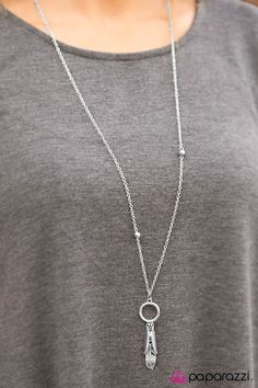 Long Silver Necklace, Comes with earrings, Just $5