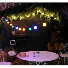 guirlande lumineuse guinguette blanche d co de fete chic et tendance d coration de f te. Black Bedroom Furniture Sets. Home Design Ideas