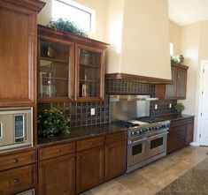 Pictures of Kitchens - Traditional - Dark Wood Kitchens, Golden Brown