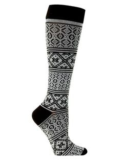 Compression stockings with tribal pattern