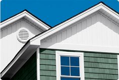 board and batten siding on gabled ends - Google Search