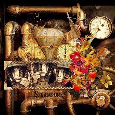 Magic Steampunk Dream by Kitty Scrap Template by Studio Dawn Inskip Photo Deviant Art