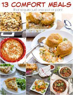 13 One Pot Comfort Meals