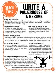 How to Write a PowerHouse Resume!