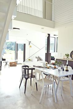 Kitchen table and chairs Table And Chairs, Dining Table, Conference Room, Loft, Living Room, Kitchen, Furniture, Home Decor, Cooking