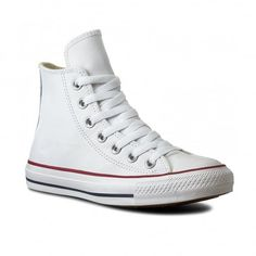 Shop the Converse All Star Hi Top Specialty Leather Trainers in White. off your First Order. Converse All Star White, Converse Men, Converse Star, Leather Trainers, Converse Chuck Taylor, High Top Sneakers, Women Wear, Ladies Shoes, Free Uk