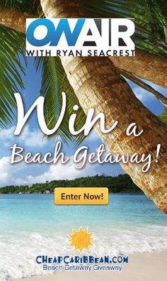 I have the chance to win a FREE beach getaway every day from @CheapCaribbean! Enter now!