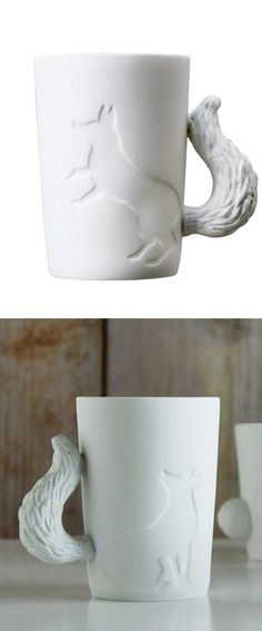 Fox Mug - these would go great at our inn (Foxfield Inn)!
