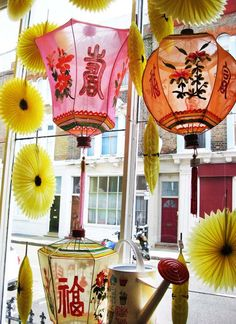 chinese lanterns -- < found when I pinned ... http://www.pinterest.com/pin/507710557966473767/ . >
