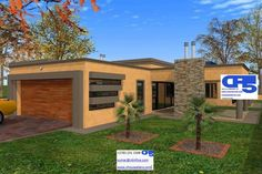 Overall Dimensions- x mBathrooms- 3 Garages- 2 Car Garage Area- Square meters Flat Roof House Designs, Residential Building Design, Building Costs, Home Collections, Ground Floor, Living Spaces, House Plans, Outdoor Structures, How To Plan
