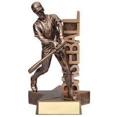 6 1/2 or 8 1/2 inch Star Resin Baseball Trophy