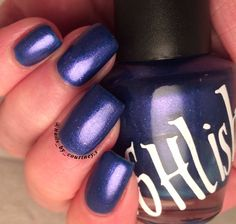 "Unique Sparkling Pearl Blue ""Midnight Sky"" Nail Polish Full Size 15ml Bottle"
