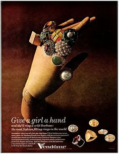 Vendome 1968 cocktail rings ad