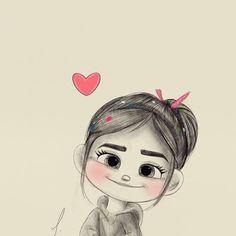 D sketch ✏ ( Girl Cartoon Characters, Cute Cartoon Girl, Cartoon Cartoon, Cartoon Faces, Cute Girl Drawing, Cartoon Girl Drawing, Cartoon Drawings, Animal Drawings, Anime Couples Drawings