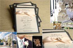 cream and black Wedding Invitation Layout, Wedding Invitations, Stationary, Cream, Projects, Black, Creme Caramel, Log Projects, Blue Prints