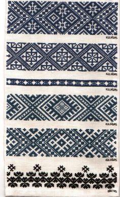 Folk Embroidery Patterns Latvian embroidery techniques by Folk Embroidery, Cross Stitch Embroidery, Embroidery Patterns, Stitch Patterns, Indian Embroidery, Knitting Charts, Knitting Stitches, Knitting Patterns, Inkle Weaving