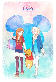 pixiv is an online artist community where members can browse and submit works, join official contests, and collaborate on works with other members. Disney Dream, Cute Disney, Disney Girls, Disney Style, Frozen And Tangled, Frozen Movie, Disney Frozen, Disney Crossovers, Cartoon Crossovers