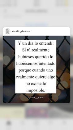 Cuando uno realmente quiere algo no existe lo imposible.